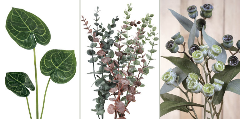 hojas y verdes
